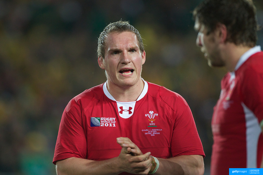 Gethin Jenkins, Wales, in action during the Australia V Wales Bronze Final match at the IRB Rugby World Cup tournament, Auckland, New Zealand. 21st October 2011. Photo Tim Clayton...