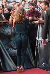 Image ©Licensed to i-Images Picture Agency. 16/07/2014. Madrid, Spain. Actress Keri Russell attends the 'Dawn Of The Planets Of The Apes' premiere at Capitol Cinema. Picture by DyD Fotografos / i-Images<br /> SPAIN OUT