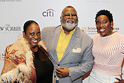 New York, NY-May 13: (L-R) Restuarant Entreprenuer Melba Wilson, Chef Alexander Smalls, and Restaurant Entreprenuer Trenesse Woods-Black attend ' Harlem on my Plate' and the Toasting of the Schomburg Center for its National Medal for Museums & Library Service Award powered by Citi on May 13, 2015 in New York City. Terrence Jennings/terrencejennings.com)