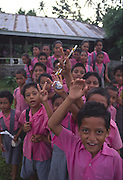 Schoolchildren, Upolu, Samoa, NMR (editorial use only)<br />