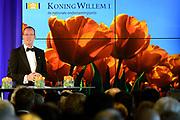 Uitreiking Koning Willem I prijs. De prijs, in de vorm van een beeldje, werd in de Nederlandse bank - Amsterdam uitgereikt door koningin M&aacute;xima, erevoorzitter van de stichting. <br /> <br /> King Willem I Award ceremony. The price in the form of a statuette, was in the Dutch banking - Amsterdam awarded by Queen M&aacute;xima, Honorary President of the Foundation.<br /> <br /> Op de foto / On the photo:   Klaas Knot  president van de Nederlandsche Bank (DNB)./ Klaas Knot President of the Dutch Federal Bank (DNB).