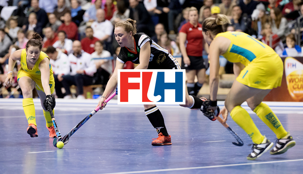 BERLIN - Indoor Hockey World Cup<br /> Women: Germany  - Australia<br /> foto: Nike Lorenz.<br /> WORLDSPORTPICS COPYRIGHT FRANK UIJLENBROEK