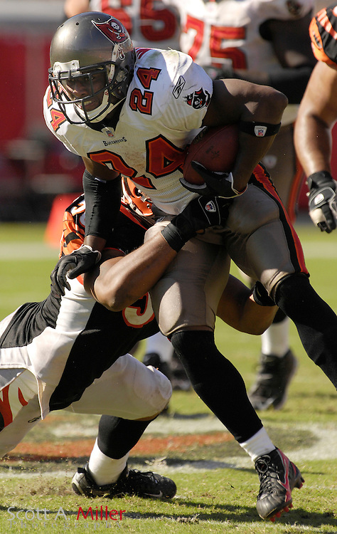 Oct. 15, 2006; Tampa, FL, USA; Tampa Bay Buccaneers running back (24) Carnell Williams in action during the Bucs game against the Cincinnati Bengals at Raymond James Stadium. ...©2006 Scott A. Miller