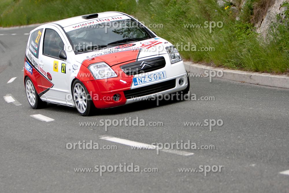 Komel Lukacs and Mark Mesterhazi of HUN during 35th Rally Saturnus, on May 12, 2012, in Trbovlje, Slovenia. (Photo by Urban Urbanc / Sportida)