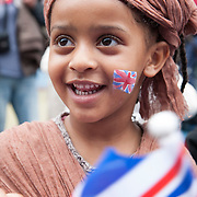 Nure Mohamed, 4 years old enjoying the jubilee party at kintore Way Children's Centre