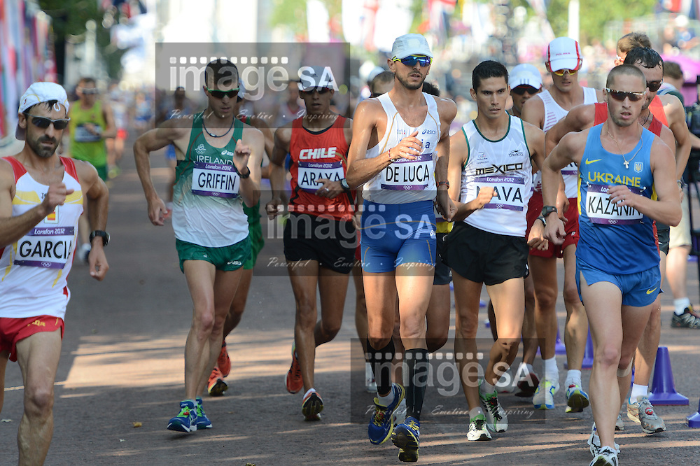 LONDON, ENGLAND - AUGUST 11, Marco de Luca of Italy during the men's 50km Race Walk in The Mall, on August 11, 2012 in London, England.Photo by Roger Sedres / Gallo Images