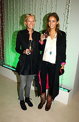 Left to right, the HON.SOPHIA HESKETH and ROSE HANBURY at an exhibition of David Hockney portraits at the National Portrait Gallery sponsored by Burberry on 11th October 2006.<br />