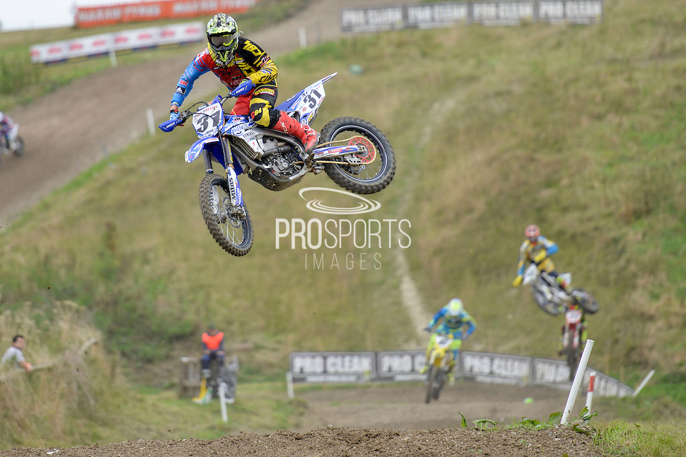 Alex Snow (31) of I-fly JK Yamaha Racing during round 8 of the Maxxis Acu British Motocross Championship at Foxhill Moto Park, Swindon, United Kingdom on 18 September 2016. Photo by Mark Davies.