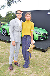 Oliver Proudlock and Emma Louise Connolly at the Laureus King Power Cup polo match held at Ham Polo Club, Richmond, London England. 22 June 2017.<br /> Photo by Dominic O'Neill/SilverHub 0203 174 1069 sales@silverhubmedia.com