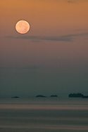 Moonset over Quepos, Costa Rica