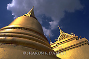 Dome and Spire of Gold Temples, Bangkok