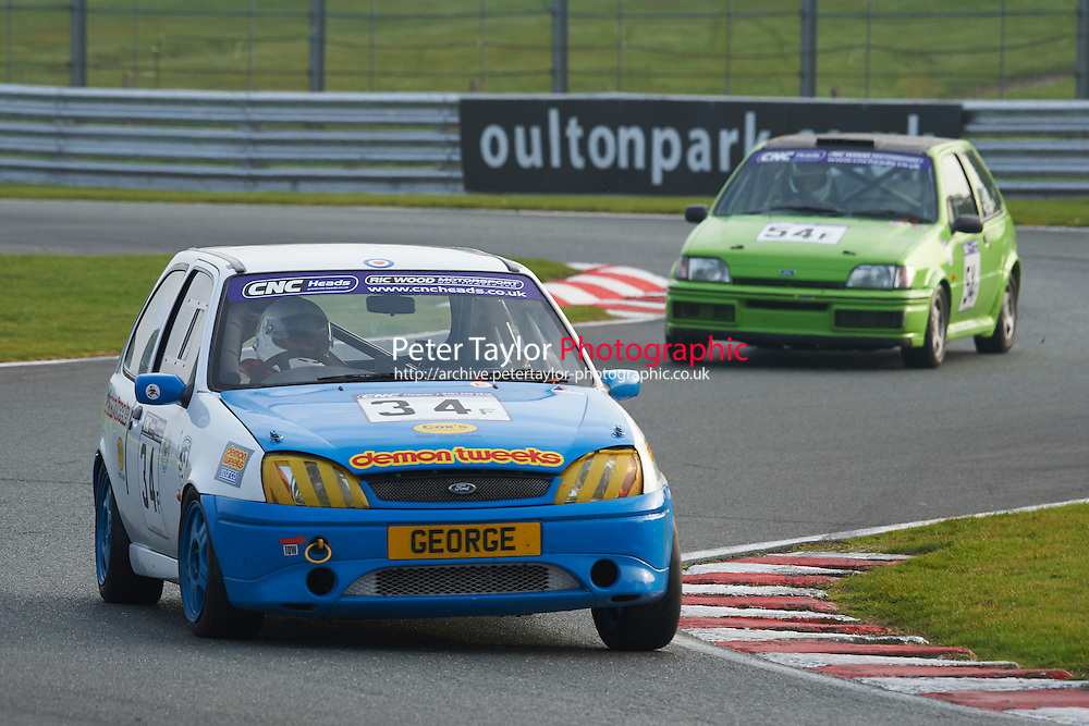 #34 Helen ALLEN Ford Fiesta Zetec S during CNC Heads Sports/Saloon Championship - Race 2  as part of the BARC Championships Race Day at Oulton Park, Little Budworth, Cheshire, United Kingdom. October 03 2015. World Copyright Taylor/PSP. Copy of publication required for printed pictures.  Every used picture is fee-liable. http://archive.petertaylor-photographic.co.uk