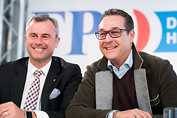 28.03.2017, Freiheitlicher Parlamentsklub, Wien, AUT, FPÖ, Pressekonferenz zum Eurofighter Untersuchungsausschuss. im Bild v.l.n.r. Dritter Nationalratspraesident Norbert Hofer (FPÖ) und Klubobmann FPÖ Heinz-Christian Strache // f.l.t.r. 3rd President of the National Council Norbert Hofer (FPOe) and Leader of the parliamentary group FPOe Heinz Christian Strache during press conference of the austrian freedom party in Vienna, Austria on 2017/12/28. EXPA Pictures © 2017, PhotoCredit: EXPA/ Michael Gruber