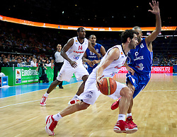 Jose Calderon of Spain vs Tony Parker of France during final basketball game between National basketball teams of Spain and France at FIBA Europe Eurobasket Lithuania 2011, on September 18, 2011, in Arena Zalgirio, Kaunas, Lithuania. (Photo by Vid Ponikvar / Sportida)