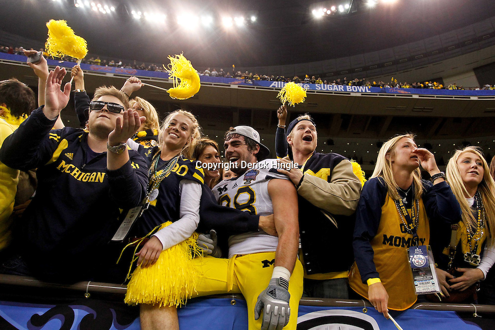 January 3, 2012; New Orleans, LA, USA; Michigan Wolverines defensive end Craig Roh (88) against the Virginia Tech Hokies during the Sugar Bowl at the Mercedes-Benz Superdome. Michigan defeated Virginia 23-20 in overtime. Mandatory Credit: Derick E. Hingle-US PRESSWIRE