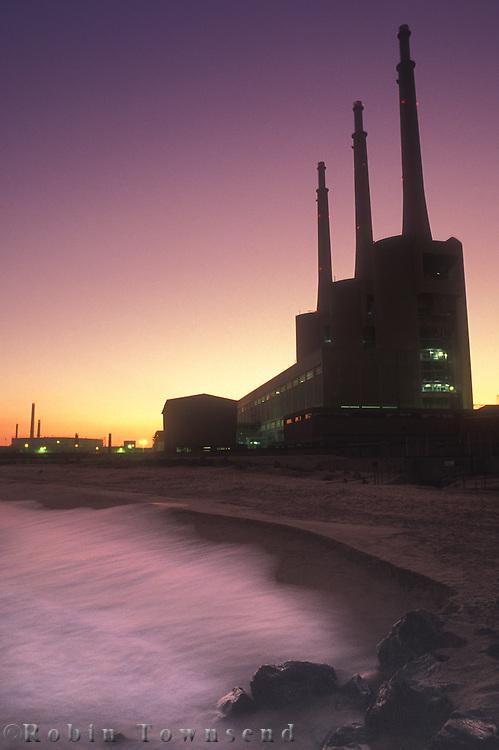 Fecsa Thermoelectric plant at Sant Ardià de Besós, Barcelona, Catalonia, Spain