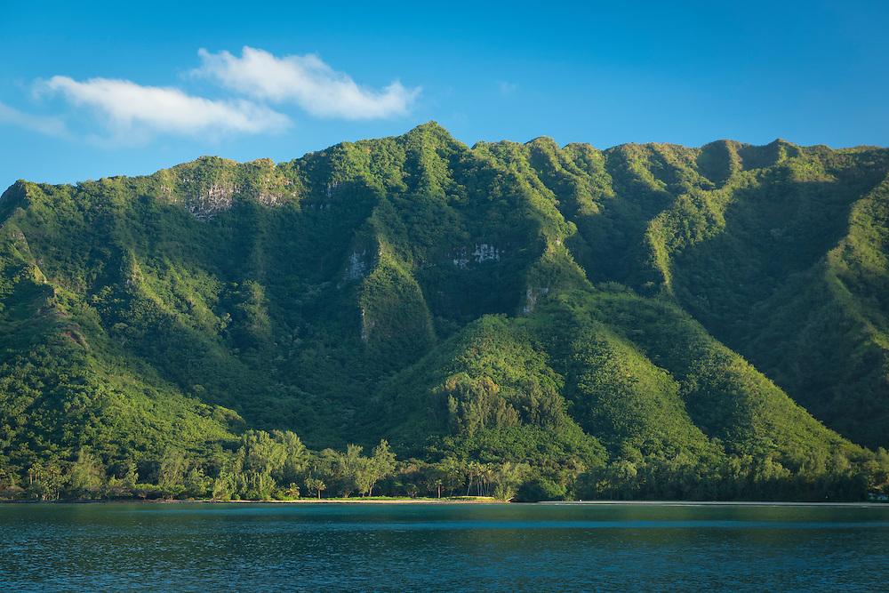 USA, Hawaii, OahuUSA, Hawaii, Oahu,Kahana Bay,Kaawa