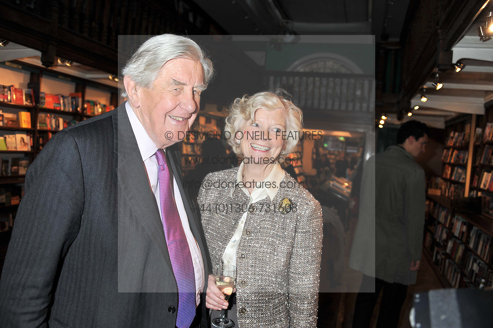 LORD & LADY JOPLING at a party to celebrate the publication of Sandra Howard's new book - Ex-Wives held at Daunt Books, 83 Marylebone High Street, London W1 on 30th April 2012.