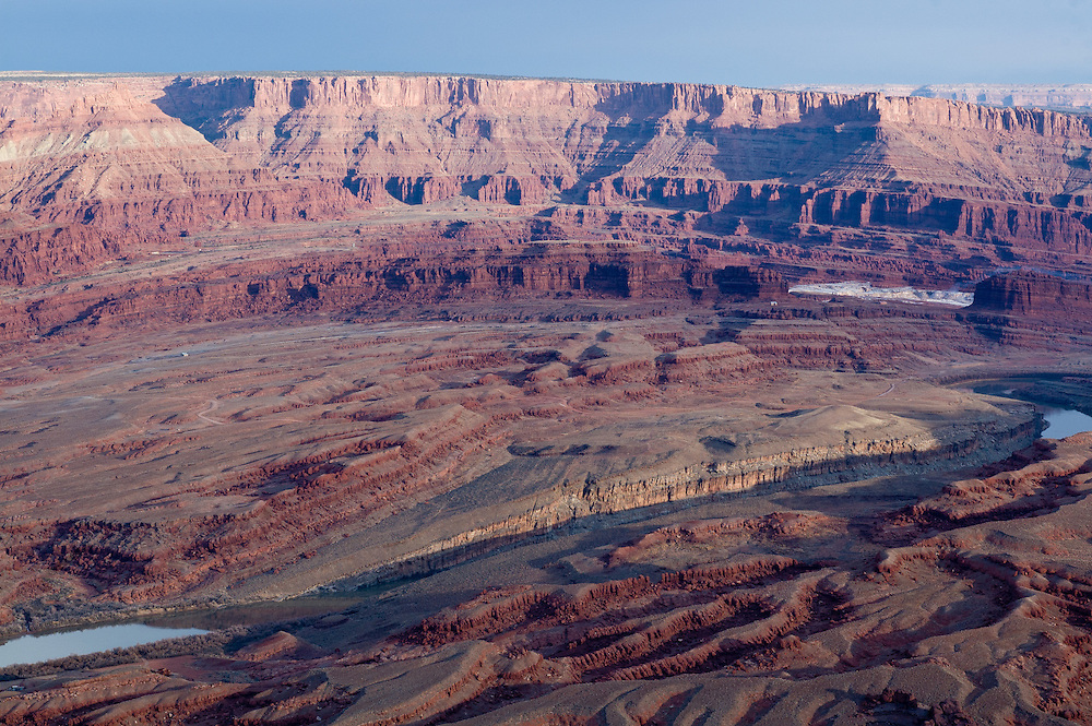 The Cane Creek anticline as viewed from the Anticline Overlook, Canyonlands National Park, Utah