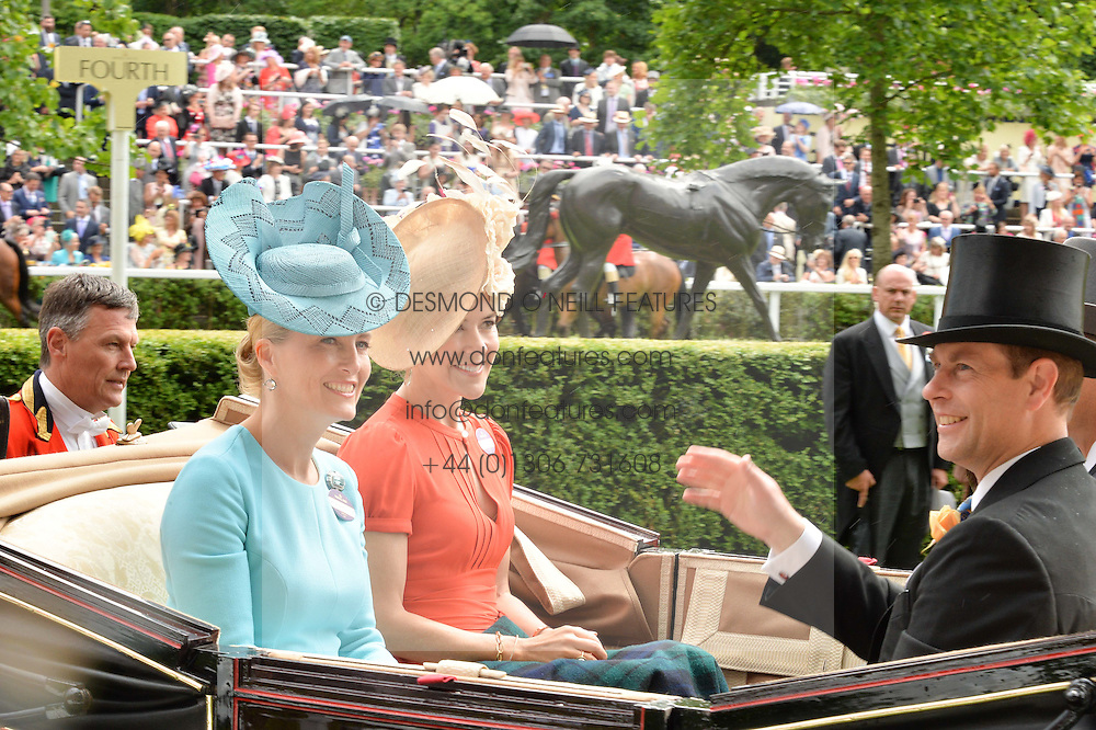 Left to right, HRH The COUNTESS OF WESSEX and The CROWN PRINCESS OF DENMARK at day two of the Royal Ascot 2016 Racing Festival at Ascot Racecourse, Berkshire on 15th June 2016.