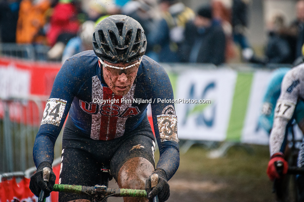 Maxx CHANCE of USA during the Men Under 23 race, UCI Cyclo-cross World Championship at Bieles, Luxembourg, 29 January 2017. Photo by Pim Nijland / PelotonPhotos.com | All photos usage must carry mandatory copyright credit (Peloton Photos | Pim Nijland)