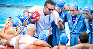 24-07-2017: Waterpolo: Nieuw Zeeland v Nederland: Boedapest<br /> <br /> (L-R) Headcoach Arno Havenga of team Netherlands during the waterpolomatch between women New Zealand and Netherlands at the 17th FINA World Championships 2017 in Budapest, Hungary<br /> <br /> Photo / Foto: Gertjan Kooij