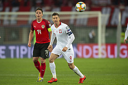 March 21, 2019 - Vienna, Austria - Robert Lewandowski of Poland looks on the ball during the UEFA European Qualifiers 2020 match between Austria and Poland at Ernst Happel Stadium in Vienna, Austria on March 21, 2019  (Credit Image: © Andrew Surma/NurPhoto via ZUMA Press)