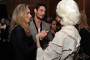 SAMANTHA BLRNK; DAVID GANDY; CARMEN DELL'OREFICE; , London College of Fashion hosts party to celebrate the opening of Carmen: A Life in Fashion with guest of honour Carmen Dell'Orefice. Il Bottachio, Hyde Park Corner. London. 16 November 2011. <br /> <br />  , -DO NOT ARCHIVE-© Copyright Photograph by Dafydd Jones. 248 Clapham Rd. London SW9 0PZ. Tel 0207 820 0771. www.dafjones.com.