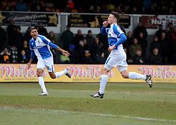 Ollie Clarke of Bristol Rovers celebrates. - Mandatory byline: Alex James/JMP - 19/03/2016 - FOOTBALL - Rodney Parade - Newport, England - Newport County v Bristol Rovers - Sky Bet League Two
