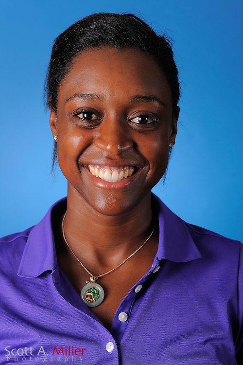 Onike Williams during a portrait session prior to the second stage of LPGA Qualifying School at the Plantation Golf and Country Club on Sept. 24, 2011 in Venice, FL...©2011 Scott A. Miller