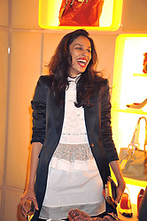 SOLONI LODHA at a reception in aid of Children in Crisis held at the Roger Vivier store, 188 Sloane Street, London on 19th March 2009.