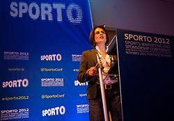 Milana Ognjenovic of Telenor Serbia during sports marketing and sponsorship conference Sporto 2012, on November 26, 2012 in Hotel Slovenija, Congress centre, Portoroz / Portorose, Slovenia. (Photo By Vid Ponikvar / Sportida.com)