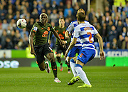 Arouna Kone and Chris Gunter during the Capital One Cup match between Reading and Everton at the Madejski Stadium, Reading, England on 22 September 2015. Photo by Adam Rivers.