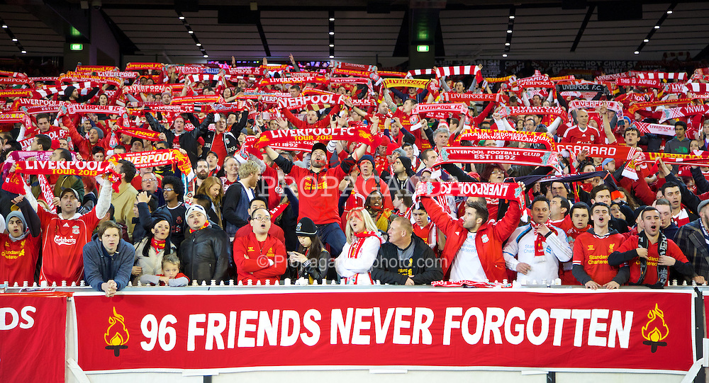 MELBOURNE, AUSTRALIA - Wednesday, July 24, 2013: Liverpool supporters during a preseason friendly match against Melbourne Victory at the Melbourne Cricket Ground. (Pic by David Rawcliffe/Propaganda)