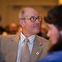 Keynote speaker and controversial farmer Joel Salatin at the 2010 Bring Food Home Conference in Kitchen, Ontario.
