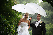 Married Couple In The Rain In Central Park