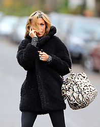 Abbey Clancy heads to Strictly Come Dancing rehearsals in London, UK. 03/12/2013<br />BYLINE MUST READ : JAMESY/GOTCHA IMAGES<br /><br />Copyright by © Gotcha Images Ltd. All rights reserved.<br />Usage of this image is conditional upon the acceptance <br />of Gotcha Images Ltd, terms and conditions available at<br />www.gotchaimages.com