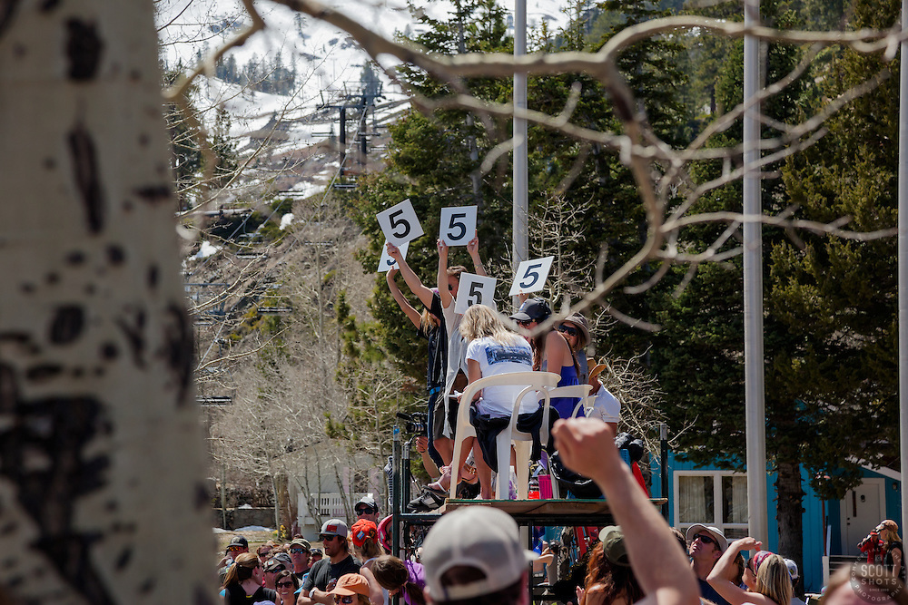 """""""Cushing Classic at Squaw Valley 19"""" - Photograph of the judges stand during the Cushing Classic at Squaw Valley, USA."""