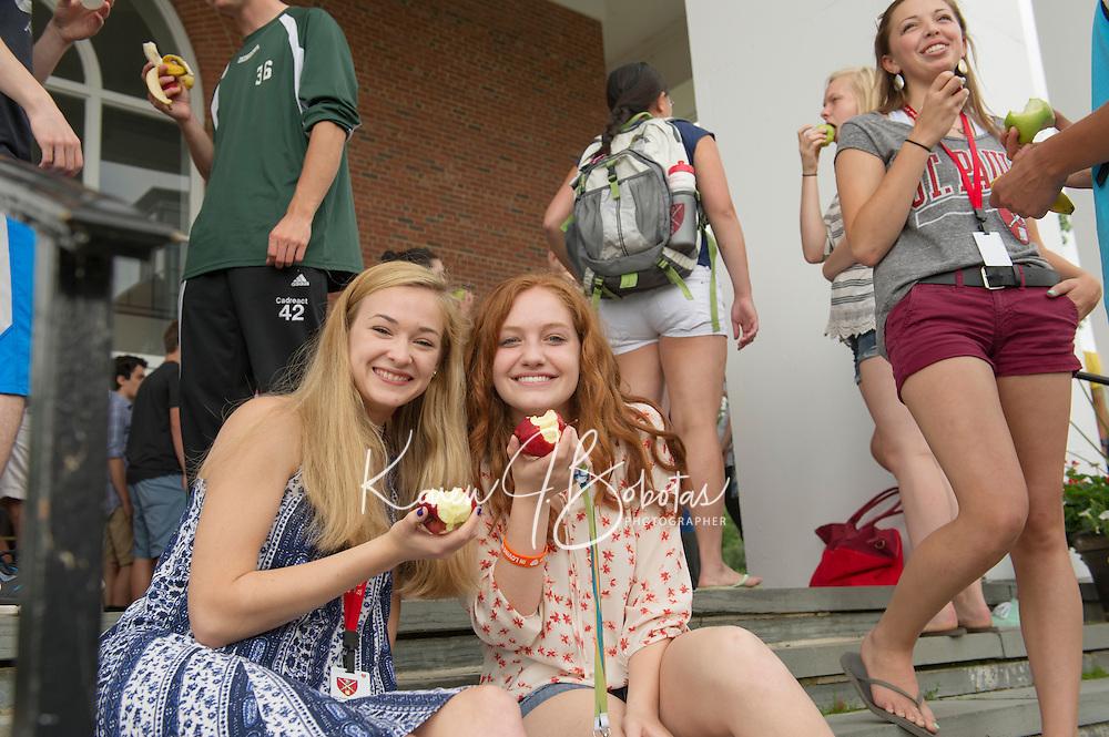 St Paul's School ASP fruit break.  ©2015 Karen Bobotas Photographer