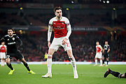 Arsenal's Carl Jenkinson (25) rues a missed chance during the Europa League group stage match between Arsenal and FK QARABAG at the Emirates Stadium, London, England on 13 December 2018.