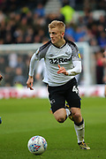 Derby County midfielder Louie Sibley on the ball during the EFL Sky Bet Championship match between Derby County and Blackburn Rovers at the Pride Park, Derby, England on 8 March 2020.