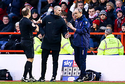 Nottingham Forest manager Martin O'Neill is spoken to by the referee - Mandatory by-line: Robbie Stephenson/JMP - 19/01/2019 - FOOTBALL - The City Ground - Nottingham, England - Nottingham Forest v Bristol City - Sky Bet Championship