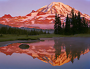 Mount Rainier at sunset