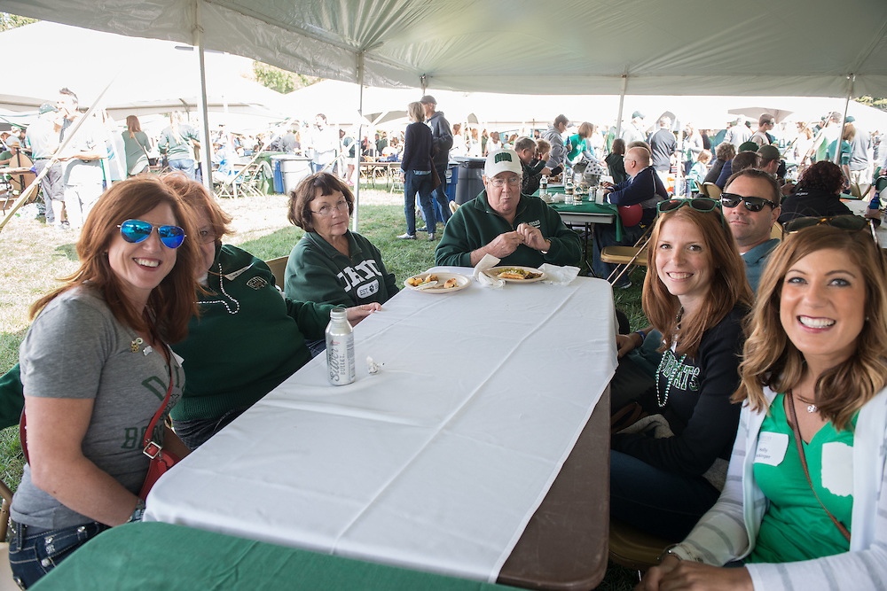 College of Business faculty and friends enjoy lunch during the homecoming tailgate party at Tailgreat Park on Saturday, October 8, 2016.