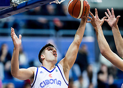 Nik Slavica of Cibona during basketball match between KK Cibona Zagreb (CRO) and KK Mornar (MNE) in Round #4 of FIBA Champions League 2016/17, on November 9, 2016 in Drazen Petrovic Basketball center, Zagreb, Croatia. Photo by Vid Ponikvar / Sportida