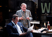 Ink <br /> by James Graham <br /> directed by Rupert Goold <br /> world premier <br /> at Almeida Theatre, London, Great Britain <br /> press photocall 26th June 2017 <br /> <br /> <br /> Bertie Carvel as Rupert Murdoch <br /> <br /> <br /> Geoffrey Freshwater as Sir Alice McKay <br /> <br /> <br /> <br /> Photograph by Elliott Franks <br /> Image licensed to Elliott Franks Photography Services