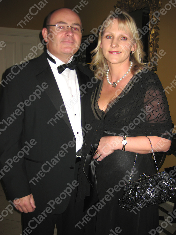 Gerry and Sharon Flynn at the Clare Law Association Ball in the Old Ground Hotel.