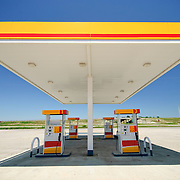 An empty gas (petrol) station