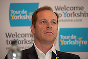 Christian Prudhomme during the Eve of tour press conference ahead of the first stage of the Tour de Yorkshire in the Leeds Civic Hall, Leeds, United Kingdom on 1 May 2019.