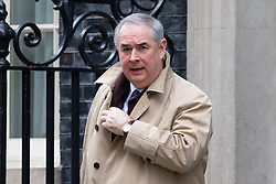 © Licensed to London News Pictures. 29/01/2019. London, UK. Attorney General Geoffrey Cox QC leaves 10 Downing Street after attending a Cabinet meeting this morning. Photo credit : Tom Nicholson/LNP